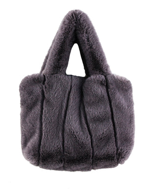 Faux Fur Fluffy Tote With Strap
