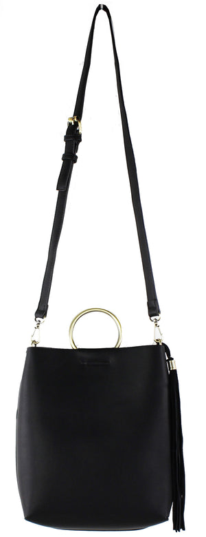 RING HANDLE MINI TOTE WITH STRAP
