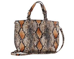 Snake Tote with Mini Pouch