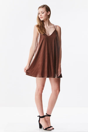 Velvet Strappy Mini Dress