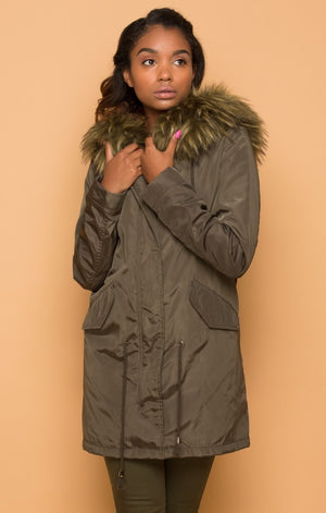 Oversized Faux Fur-lined Parka