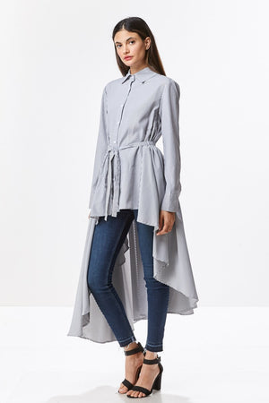 Hi Lo Exaggerated Button Down Shirt