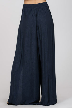 MAXI PALAZZO PANT WITH SLIT