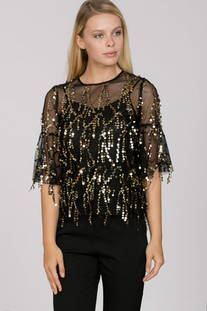 Raining Sequins Party Top