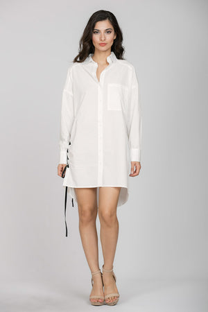 Shirt Dress With Side Lacing