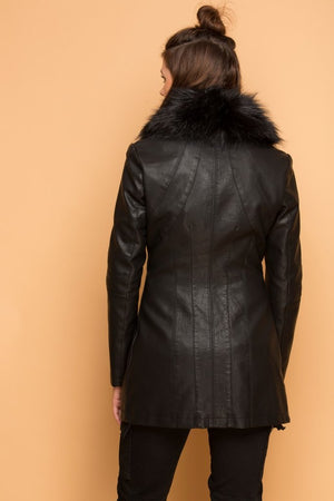 Faux Fur Lined Car Coat