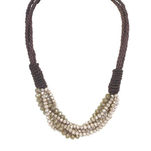 Rope & Bead Statement Necklace