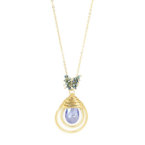 Jewel in Tear Drop Necklace