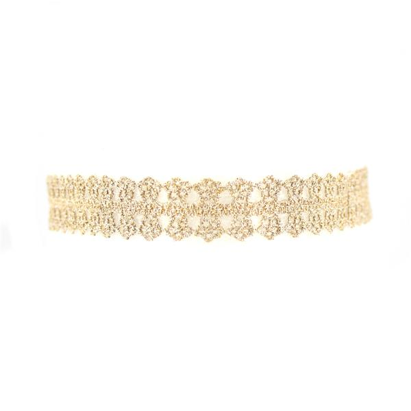 Double Row Flowers Choker
