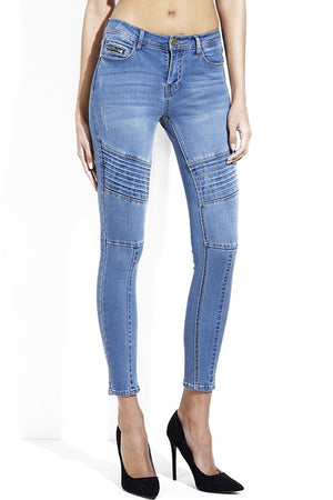 Moto Skinny Ankle Jeans