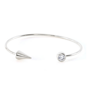 Arrow & Diamond Open Bangle