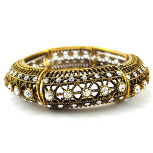 Art Deco Diamond & Brass Bangle