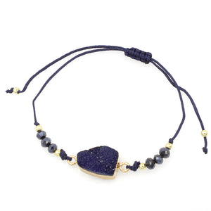 Druze Solitiaire Beaded Bracelet