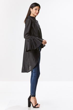 Hi-Low Oversized Textured Blouse