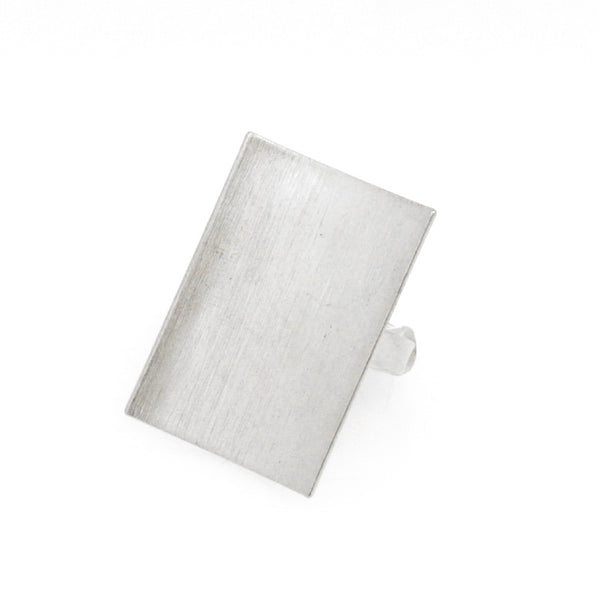 Brushed Plate Stmt Ring