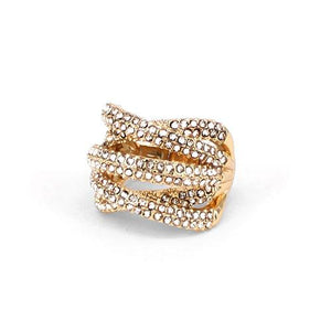 Criss Cross Diamond Stmt Ring