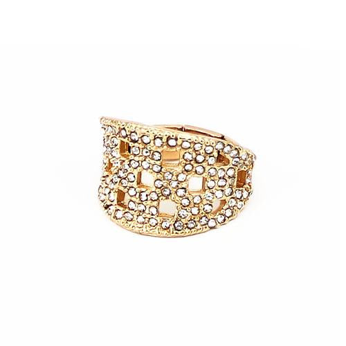 Diamond Cutouts Stmt Ring