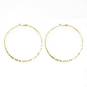 Dainty Hammered Hoops