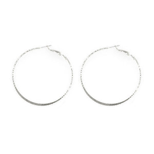 Dainty Hammered Solid Arc Hoops