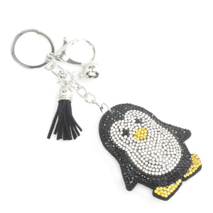 Diamond Penguin Keychain