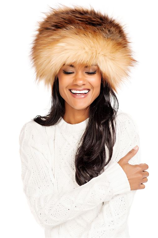 Russian-Style Hat Red Fox