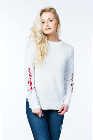 CLIMBING FLOWERS SWEATER