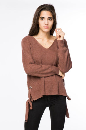 Knit Sweater with Side Ties