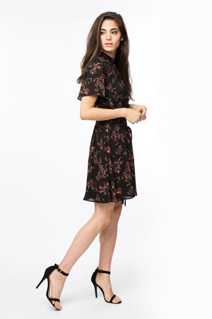 Floral Flutter Tie Dress