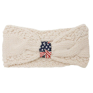 American Flag Knit Head Wrap