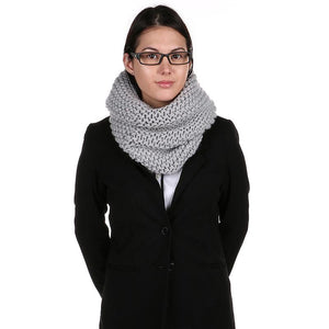 Large Knit Wrap Neck Scarf