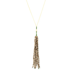 Beaded Tassles Necklace