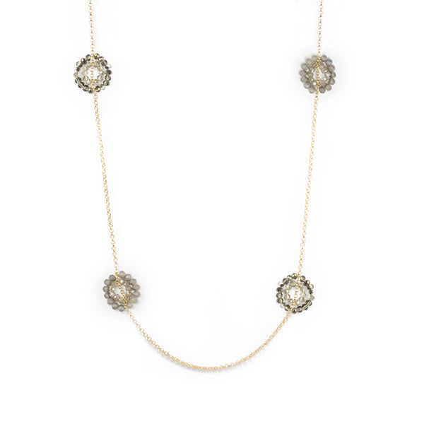 Crystal Wreaths Long Necklace