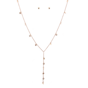 Floating Discs Drop Necklace