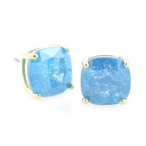 Frosted Jewels Square Stud