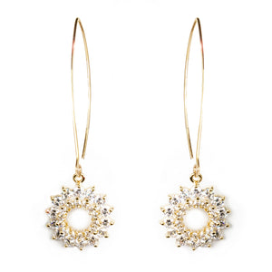 Diamond Starburst Drop Earrings