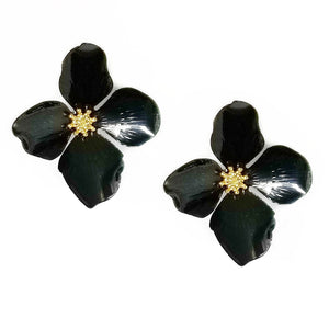 Vintage Enamel Flower Earrings