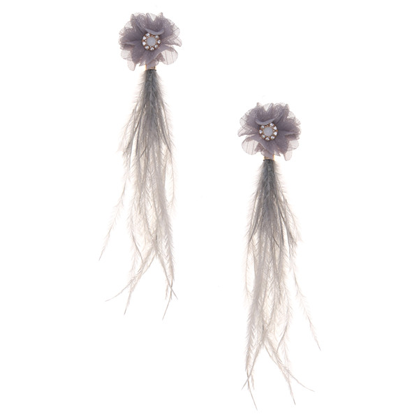 Flower & Feathers Earrings