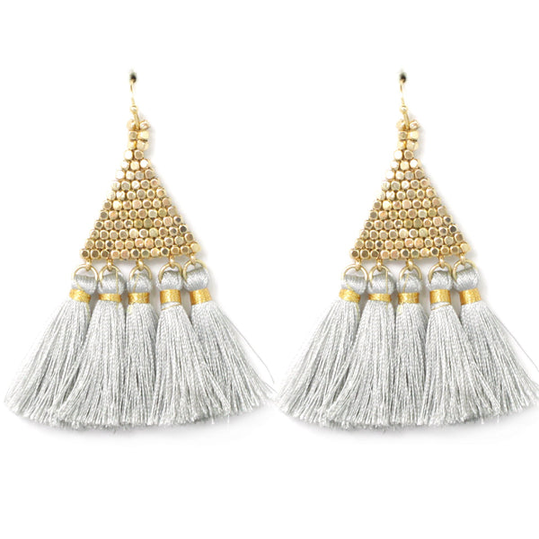 Pyramid Fringe Earrings