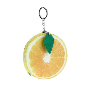 Orange Keychain/coin purse/handbag charm
