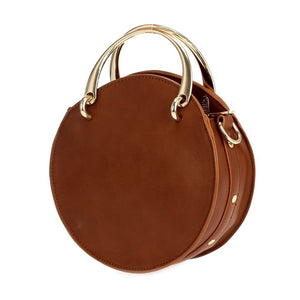 Round top-handle crossbody