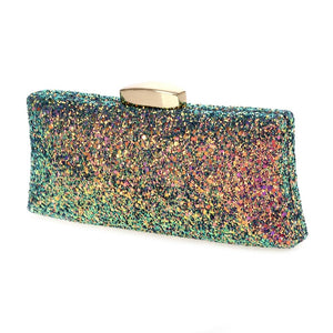 Hardbody Glitter Clutch (with Chain)