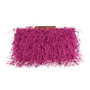 Ostritch Fringe Hard Clutch