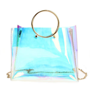 Iridescent Ring Satchel (with chain)