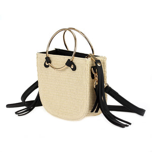 Ring Handle Straw with Crossbody