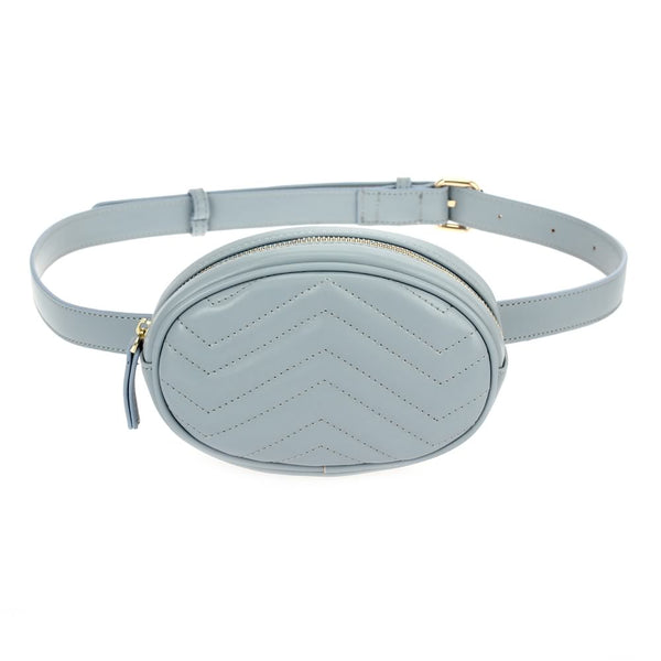 Oval Chevron Belt Bag