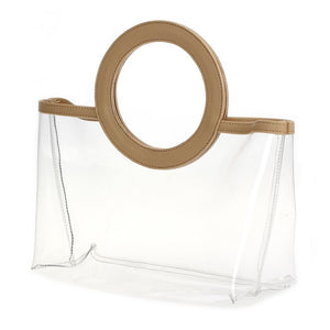 Ring Handle Clear Tote