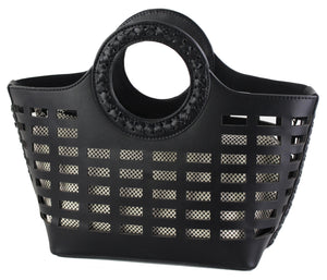 PERFORATED STRUCTURED MINI TOTE