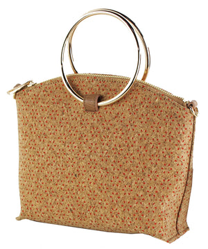 DESIGN CORK BAG WITH RING HANDLES