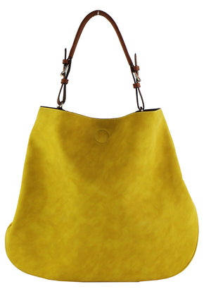 Faux Suede Hobo Bag