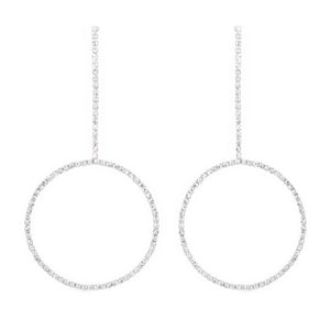 Drop Diamond Circles Earrings